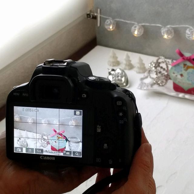 写真を撮るセット&カメラを持つ手