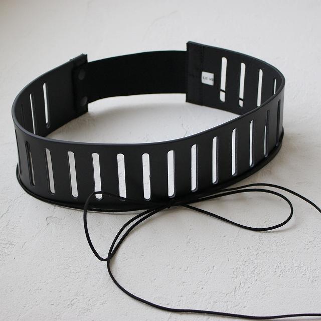 細革リボンつき幅広黒ベルト
