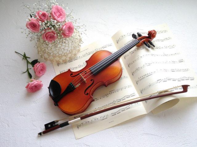 ご自分のスマホで撮影されたバイオリンの画像