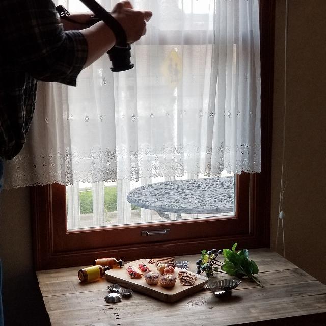 カメラ教室お客さま事例(アフター)お菓子の撮影風景