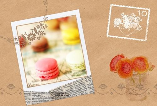 フレーム素材(はがき用・ポラロイド枠・切手・花) PhotoScapeの使い方